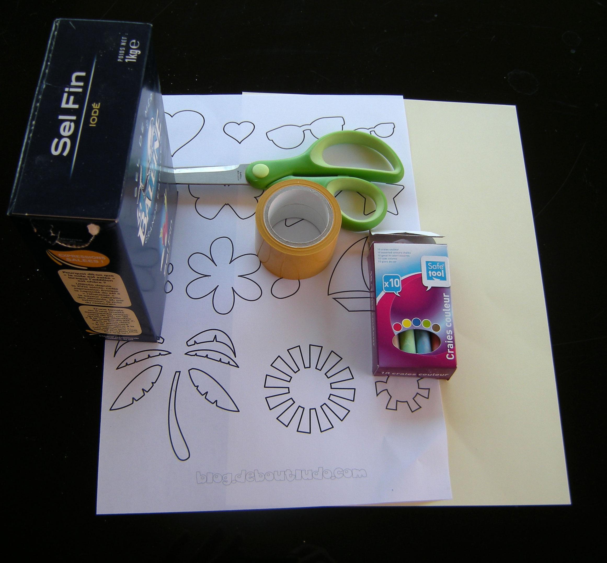 Une carte postale personnalisée avec du sable ou du sel coloré   Debout Ludo, le blog